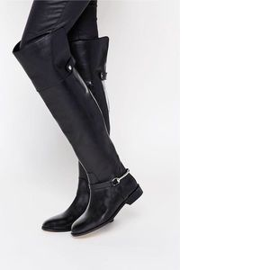 NWOT ASOS 'Kayden' Leather Over-Knee Boots